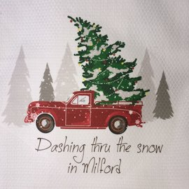 DASHING THROUGH THE SNOW MILFORD TOWEL
