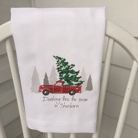 DASHING THROUGH THE SNOW SHERBORN TOWEL