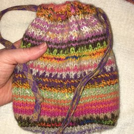 KAMALA DESIGNS HAND KNIT ORACLE CARD POUCH #12
