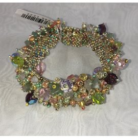 Chunky Beaded Bracelet   Pastel Multi