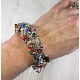Chunky Beaded Bracelet   Multi Mixed