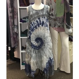 TEMPO PARIS SALE- TIE DYE LINEN / CHIFFON DRESS