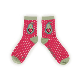 POWDER AVOCADO HEART SOCKS
