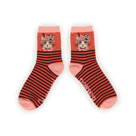 POWDER FLORAL KITTY SOCKS