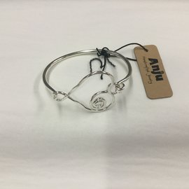 WIRE BRACELET OPEN HEART