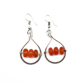 BANJARA EARRINGS CARNELIAN