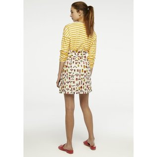 SALE- BRIGHT INSECT PATTERN SKIRT