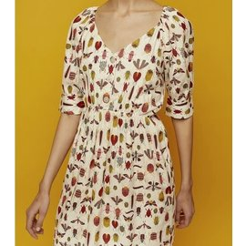 SALE - BRIGHT INSECT PATTERN DRESS