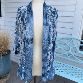 VENARIO SALE- NOVA DRAPED CARDIGAN- large only