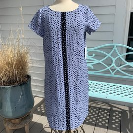 HABITAT SLATE BLUE DOTTED DRESS