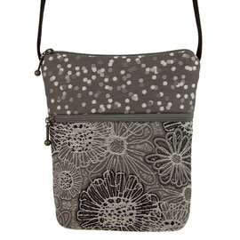 MARUCA SALE- LITTLE BUDDY PURSE - GREY BLOOMS