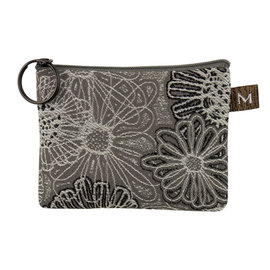 MARUCA COIN PURSE - GREY BLOOMS