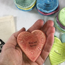 HANDMADE GIVING HEART TINY DISH - choices