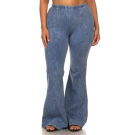 Mineral Wash Bell Bottoms - PLUS FIT LT. DENIM 1 XL