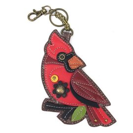 CHALA COIN PURSE/KEY FOB CARDINAL