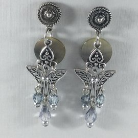 Butterfly Beads Ice Earrings