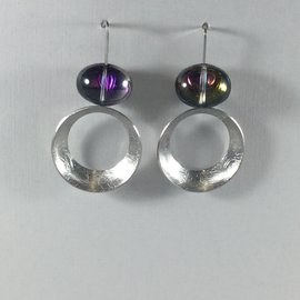 Shimmer Jelly Circle Violet Earrings