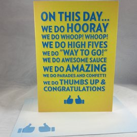 GRADUATION CARD On this Day