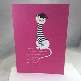 GRADUATION CARD Clever Cat