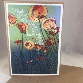 Sympathy Card Poppies