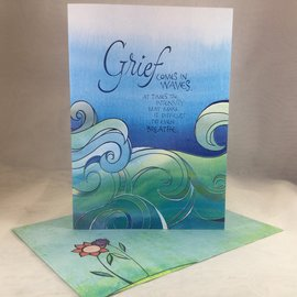 Sympathy Card In Waves