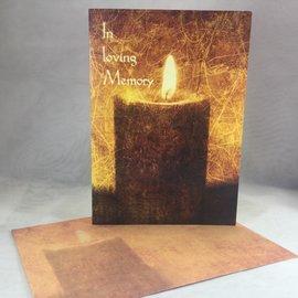 Sympathy Card Memory Candle