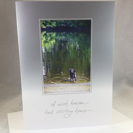 Pet Sympathy Card Chance testing the waters
