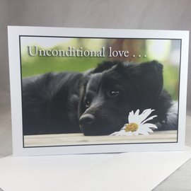 Pet Sympathy Card Unconditional Love
