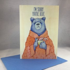 Thinking of You Card Blue Bear