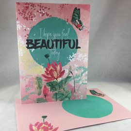 Thinking of You Card Inside and Out Beauty