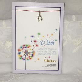 Wish Charm on a String Necklace