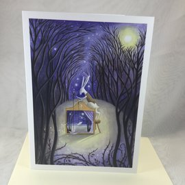 Art Blank Card Theatre in the Woods