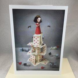 Art Blank Card House of Cards