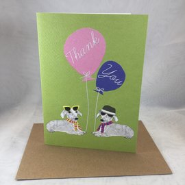 Thank You Card Dazzled Dogs