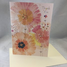 Thank You Card Flower Bursts
