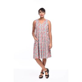 SALE - TULIP POPPIE DRESS - Geranium SMALL