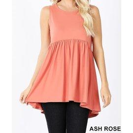 ASH ROSE SLEEVELESS EMPIRE WAIST TOP