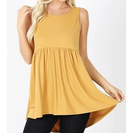 MARIGOLD SLEEVELESS EMPIRE WAIST TOP