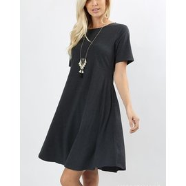 SALE- GRAPHITE SUMMER POP-OVER DRESS (WAS $28)