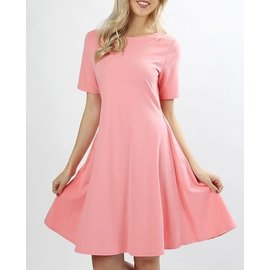 SALE-ROSE PINK SUMMER POP-OVER DRESS ORIG $28