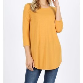 MARIGOLD 3/4 SLEEVE TOP