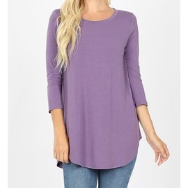 LILAC  3/4 SLEEVE TOP