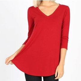 RUBY V NECK TOP