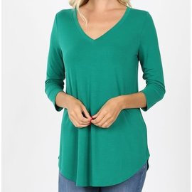 FOREST V NECK TOP