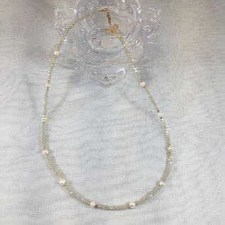 Crystal and Pearl Necklace Natural