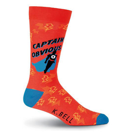 K.Bell Men's Captain Obvious Socks