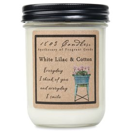 1803 CANDLE WHITE LILAC & COTTON