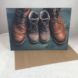 Father's Day Card Brown Boots