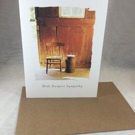 Sympathy Card Lone Chair