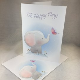 New Baby Card Happy Day Elephant